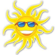 Sun Happy Car Vinyl Sticker - SELECT SIZE