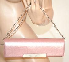 BORSELLO donna ROSA POCHETTE borsa elegante DA CERIMONIA clutch bag bolsa 900D