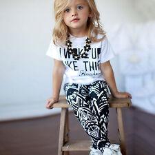 2 PZ BIMBO BAMBINO ESTATE T SHIRT MAGLIA + Pantaloni lunghi set vestiti