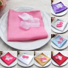 10/50/100pc Luxury Dinner Napkins Cloth Linen Wedding Banquet Party Table Decor