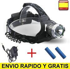 LINTERNA FRONTAL DE CABEZA RECARGABLE OUTDOOR CREE XLM T6 LED HEADLAMP 90º