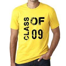 Class of 09 Grunge Homme T-shirt Jaune Cadeau D'anniversaire