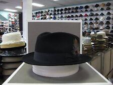 STETSON BLACK MERCURY FUR FELT C-CROWN DRESS HAT