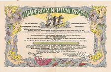 Imperium Neptuni Regis Certificate WW II  USS General Harry Taylor 1944 Censored