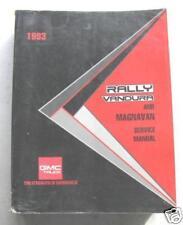 1993 GMC RALLY VAN VANDURA ORIG DLR SHOP SERVICE MANUAL