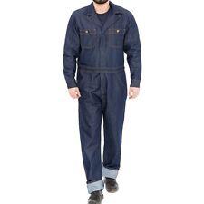 King Kerosin Vintage Mechanic Jeans Denim Overalls Kombi - Workwear Rinsed