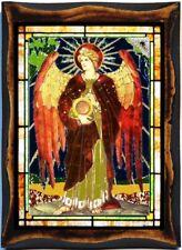 Uriel Angel, Archangel Handmade wood icon on plaque