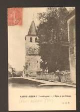 SAINT-AGNAN (24) HOTEL , EGLISE & Arbre ORMEAU en 1906