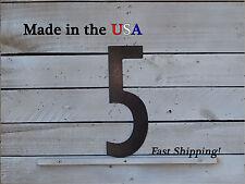 """12"""" Metal Number-Metal Wall Numbers-Outdoor Numbers-Street Numbers- F1006"""