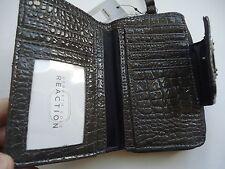 Kenneth Cole Reaction Ladies Croco Wristlet Wallet, Grey