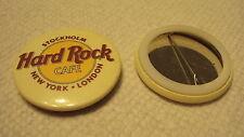 Hard Rock Cafe stockholm new york London Save Planet Souvenir Pin Back Button