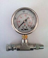"""Pompe jauge de pression 0-4000 psi 280bar 2 1/2"""" 63mm peinture pulvérisateur, hydraulique manomètre."""