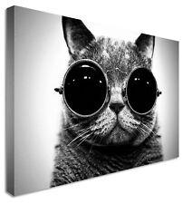 CAT-John Lennon Occhiali stampe su tela Wall Art foto di grandi dimensioni di qualsiasi