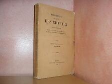 Bibliothèque de l' école des chartes revue d'érudition moyen age  1936 1 & 3