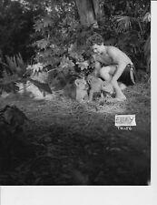 Johnny Sheffield w/lion cub Photo from Original Negativ
