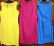 Talbots Pink Linen-Blend Sleeveless Sheath Straight Fitted Dress 10 Misses 14Pet