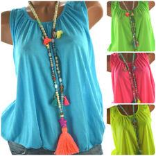ITALY Sommer TOP Shirt Ballon Bluse 38 40 42 44 viele Farben und Neon NEU
