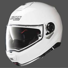 Nolan N100-5 Flip up Helmet FLAT N-Com Motorcycle Helmet -Plain White ZE