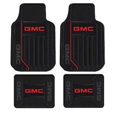 New GMC Elite Logo All Weather Heavy Duty Rubber Front / Back Floor Mats Set
