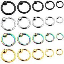 BCR anello a clip SETTO LABBRA Helix Trago Captive Piercing Orecchio brustwartze