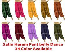 Satin Harem Pant Belly Dancing Costume Women Boho Hippie pant tribal Dance S66