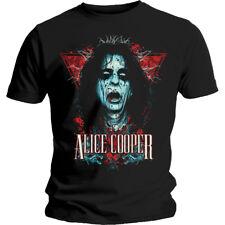 Alice Cooper mens nero DECAP maglietta