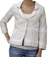 CUSTO BARCELONA Women's Iriad 30x3 Pink & Beige Blazer 292351 $303 NWT