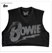 David Bowie Crop Top Rock T-Shirt / Relic Retro Rock Tee,Half Shirt,Summer 2017