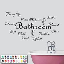 Bathroom Wall Art-Adesivo Vinile-testo preventivo Montage-Adesivi Decalcomanie