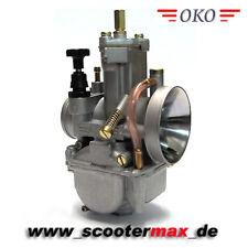 Tuning OKO 28 mm PWK Vergaser mit Powerjet, Unterdruckanschluß,  polierter Kelch