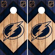 Tampa Bay Lightning Cornhole Wrap Nhl Game Board Skin Set Vinyl Decal Co314