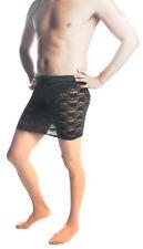 "Mens Skirt, Black Lace Mini Skirt Sexy Style Up To 44"" Waist! Crossdresser/TG"