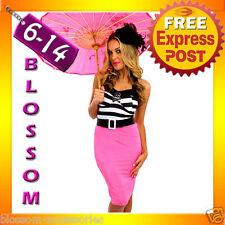 E59 Ladies 50s Vintage Punk Rockabilly Pin Up Dress Bettie Page Fancy Costume