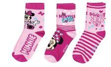 3er Pack Disney Minnie Mouse Söckchen Socken Strümpfe Gr. 23 - 38 NEU und OVP