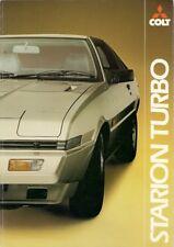Mitsubishi Colt Starion 2000 Turbo 1982-83 UK Market Sales Brochure