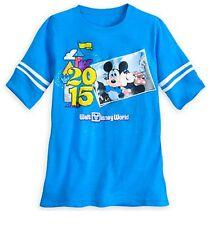 Disney Store Mickey & Minnie Mouse Blue Football Jersey Womens T Shirt Size XS