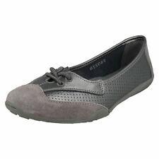 Down To Earth f8r0220 da donna color argento pizzo pelle scarpe ballerine