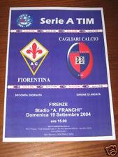 FIORENTINA CAGLIARI PROGRAMMA PROGRAMME SERIE A 2004/05