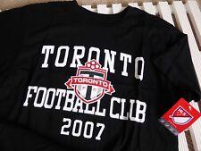 3bba6abd7 MEDIUM Official TORONTO FC MLS Canada Black T Shirt Football Soccer NEW TAG