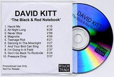 DAVID KITT The Black & Red Notebook UK 10-trk promo test CD