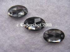 Pierres strass Acrylique Coudre Ovale environ 12 x 8 mm Black Diamond