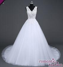 Hochzeitskleid Maßanfertigung alle Größen Weiß oder Creme+W043nM♥ ♥Brautkleid
