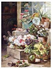 Flowers POTS Accent Tile Mural Kitchen Bathroom Wall Backsplash Marble Ceramic