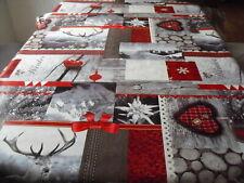 Tischdecke Wachstuch oval 140 cm versch. Längen., Weihnachten, Winter (1m=4,99€)