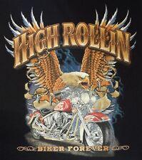 T-Shirt BIKER FOREVER EAGLE Biker CHOPPER VINTAGE V8 Route 66 Dragrace USA 593