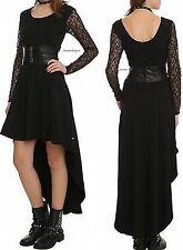 Royal Bones Black Lace Sleeve Salem Hi-Lo Dress Rock N Roll-Goth-Wicken-Vampire