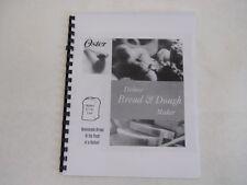 Oster Bread Machine Manual 4807 4811 4812 4839 5811 5812 5814 5815 5821 5826