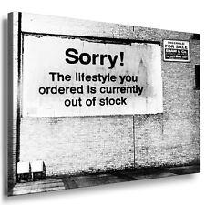 Bild 150CM Leinwandbild Wandbild Bilder fertig aufgespannt Banksy Graffiti Sorry