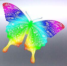 Butterfly vinyl cut Sticker bug tribal Australian made aboriginal art mandala