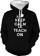 Keep Calm and Teach On Teachers Students Apple Book 2-tone Hoodie Pullover